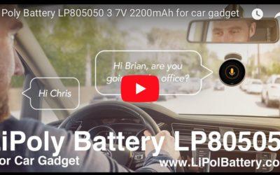 Custom LiPoly Battery Pack LP805048 2200mAh for Car Gadget