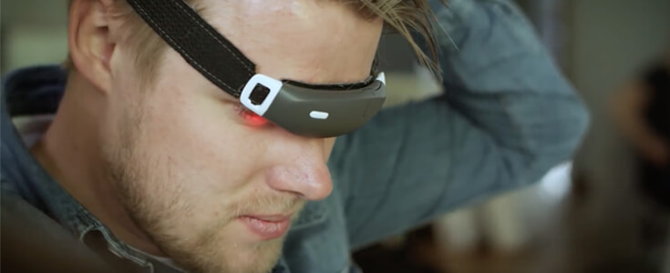 Slight lithium battery for health tracking headband