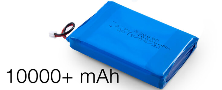 Lithium Polymer Batteries 10000mAh or above