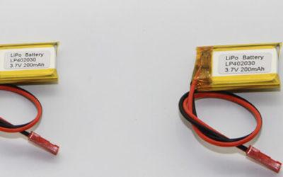 Lithium Polymer Batteries 200-300mAh