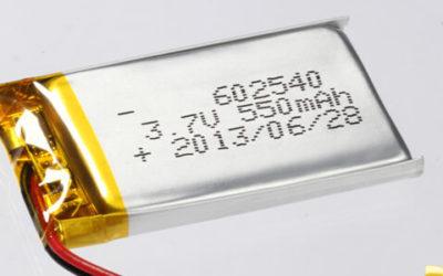 Lithium Polymer batteries 500-600mAh