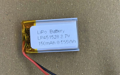 3.7V Small 150mAh Lithium Polymer Batteries LP451528