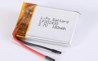 Standard lithium polymer batteries LP302430 180mAh