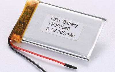 Rechargeable lithium polymer batteries LP302540 260mAh