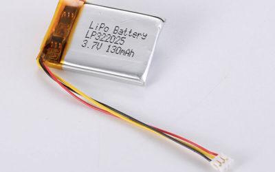 Standard lithium polymer batteries LP322025 130mAh