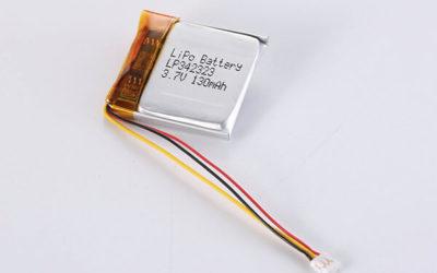 Standard lithium polymer batteries LP342323 130mAh