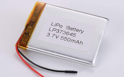 Rechargeable lithium polymer batteries LP373645 550mAh
