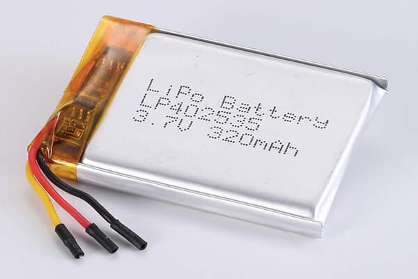 Rechargeable lithium polymer batteries LP402535 320mAh