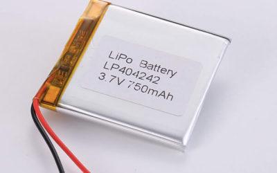 Rechargeable lithium polymer batteries LP404242 750mAh