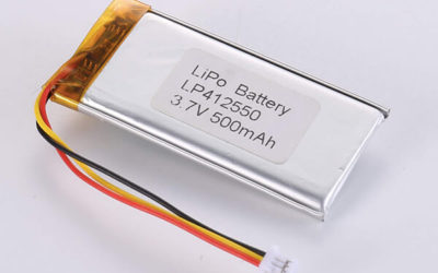 Rechargeable lithium polymer batteries LP412550 500mAh