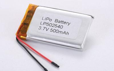 Rechargeable lithium polymer batteries LP502540 500mAh