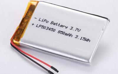 Standard lithium polymer batteries LP503450 850mAh