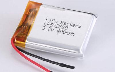 Rechargeable lithium polymer batteries LP552530 400mAh