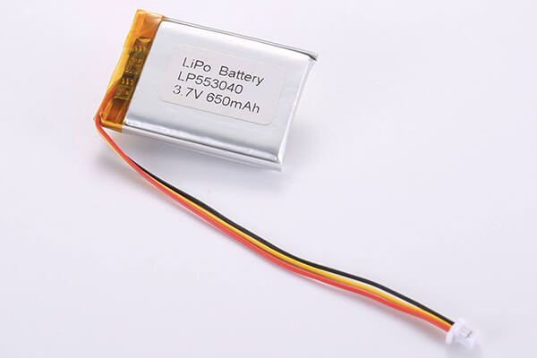 Rechargeable lithium polymer batteries LP553040 650mAh