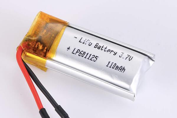 Standard lithium polymer batteries LP601125 110mAh