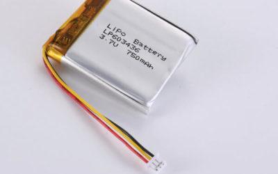 Rechargeable lithium polymer batteries LP603436 750mAh