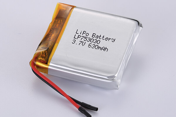 Rechargeable lithium polymer batteries LP753030 630mAh