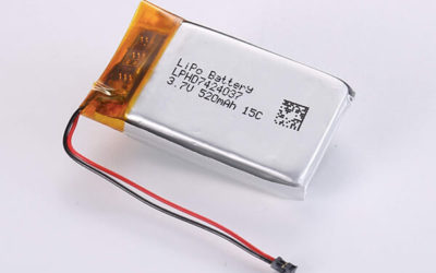 Rechargeable lithium polymer batteries LPHD7424037 520mAh 15C