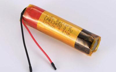 Rechargeable lithium polymer batteries LPR13450 650mAh