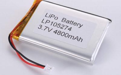 Standard lithium polymer batterie LP105274 3.7V 4800mAh