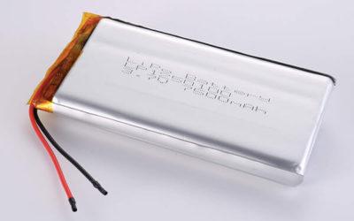 3.7V Standard Lithium Polymer Batteries LP1250100 7500mAh