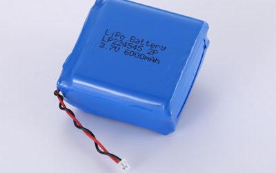 Hot Selling lithium polymer batteries LP224545 2P 3.7V 6000mAh
