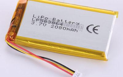 Standard lithium polymer batteries LP583864 2080mAh