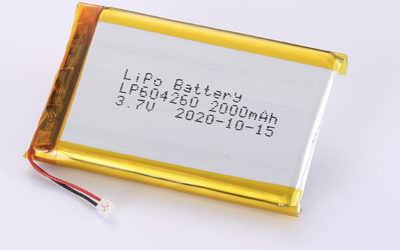 Rechargeable Hot Selling lithium polymer batteries LP604260 3.7V 2000mAh