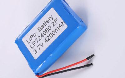 Standard lithium polymer batterie LP724060 2P 3.7V 4200mAh