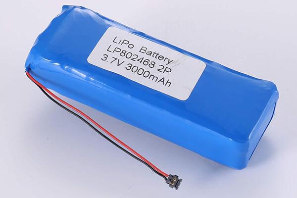 Standard lithium polymer batterie LP802468 3000mAh