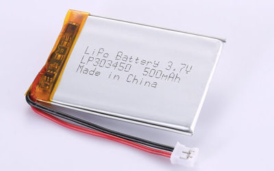 Hot Selling Lithium Polymer Batteries LP303450 3.7V 500mAh with 1.85Wh