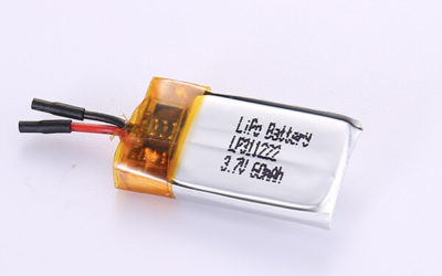 Small Rechargeable Lithium Polymer Batteries LP311222 60mAh with 0.222Wh