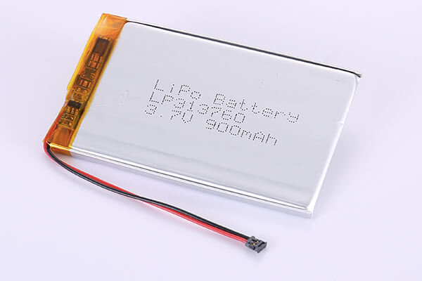 Rechargeable Lithium Polymer Batteries LP313760 3.7V 900mAh with 3.33Wh