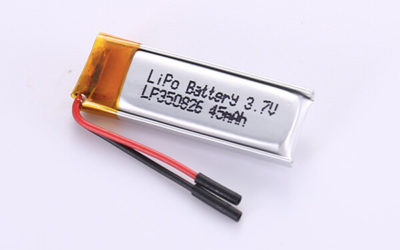 Small Rechargeable Lithium Polymer Batteries LP350826 45mAh