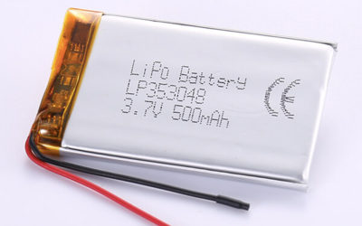 Hot Selling Lithium Polymer Batteries LP353048 3.7V 500mAh with 1.85Wh