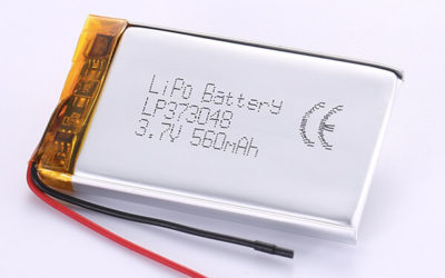 Hot Selling Lithium Polymer Batteries LP373048 3.7V 560mAh with 2.072Wh