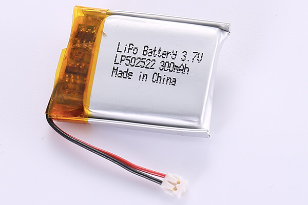 3.7V Rechargeable Hot Selling Lithium Polymer Batteries LP502522 300mAh with 1.11Wh