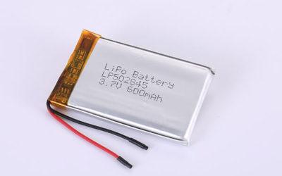 Hot Selling Lithium Polymer Batteries LP502845 3.7V 600mAh