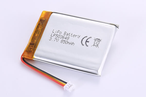 Rechargeable Lithium Polymer Batteries LP503648 850mAh with 3.145Wh
