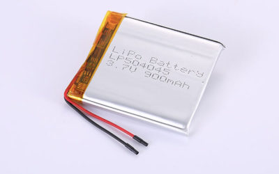 Rechargeable Lithium Polymer Batteries LP504045 3.7V 900mAh with 3.33Wh