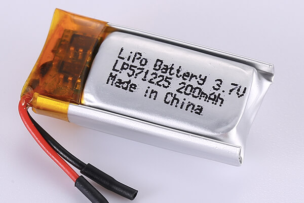 Standard Lithium Polymer Batteries LP571225 200mAh with 0.74Wh