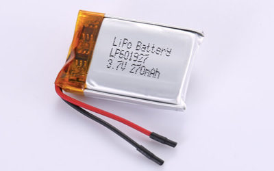 Standard Lithium Polymer Batteries LP601927 270mAh with 0.999Wh