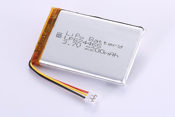 Rechargeable Lithium Polymer Batteries  LP624465 3.7V 2200mAh with 8.14Wh