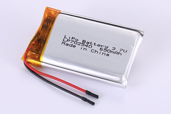 Hot Selling Lithium Polymer Batteries  LP702540 3.7V 650mAh