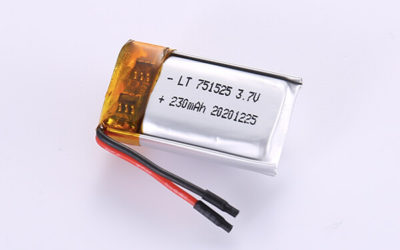 Standard Lithium Polymer Batteries LP751525 230mAh with 0.851Wh