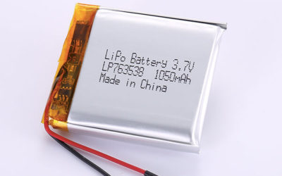 Rechargeable Lithium Polymer Batteries LP763538 1050mAh with 3.885Wh