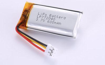 Hot Selling Lithium Polymer Batteries LP772040 3.7V 600mAh