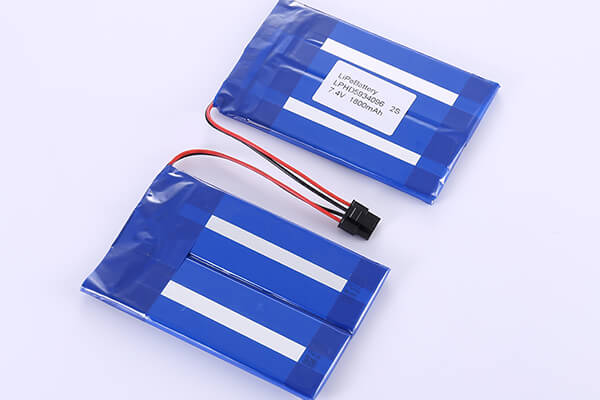 Rechargeable Lithium Polymer Batteries LPHD5934096 2S 1800mAh with 6.66Wh
