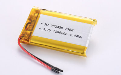 Rechargeable lithium polymer batteries LP703450 3.7V 1200mAh with 4.44Wh
