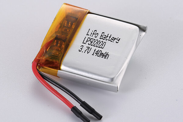 Standard lithium polymer batteries LP502020 140mAh with 0.518Wh
